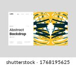 abstract homepage illustration. ... | Shutterstock .eps vector #1768195625
