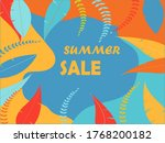 summer sale banner with yellow  ... | Shutterstock .eps vector #1768200182