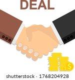 handshake. deal. two... | Shutterstock .eps vector #1768204928