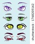 set of four fantasy monster... | Shutterstock .eps vector #1768205162