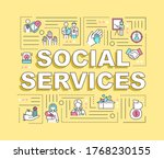 social services word concepts...