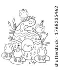 coloring page   numbers. ... | Shutterstock .eps vector #1768235462