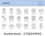 resume icons. editable stroke... | Shutterstock .eps vector #1768244942