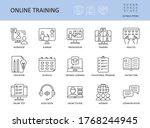 online training vector icons.... | Shutterstock .eps vector #1768244945