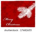 christmas snowflake pine... | Shutterstock .eps vector #17682655