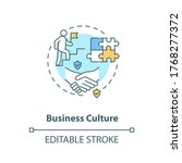 business culture concept icon....   Shutterstock .eps vector #1768277372