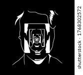 vector linear illustration of... | Shutterstock .eps vector #1768302572