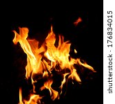 red fire and flame with a black ...   Shutterstock . vector #176834015
