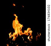 red fire and flame with a black ... | Shutterstock . vector #176834102