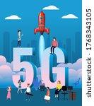 5g internet new mobile wireless ...   Shutterstock .eps vector #1768343105