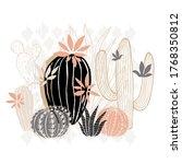 cactus succulent wild rose... | Shutterstock .eps vector #1768350812
