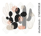 cactus succulent wild rose... | Shutterstock .eps vector #1768350818