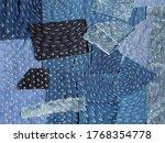 Patchwork Denim Background In...