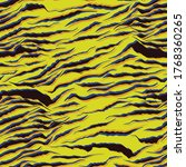 striped animal seamless pattern.... | Shutterstock .eps vector #1768360265