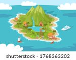 tropical island summer resort... | Shutterstock .eps vector #1768363202