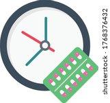 medicine time vector flat color ... | Shutterstock .eps vector #1768376432