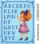 Vintage Alphabet Learning. A...