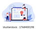 blog authors writing articles.... | Shutterstock .eps vector #1768400198