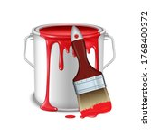 an open tin can with spilled... | Shutterstock .eps vector #1768400372