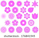 a collection of flowers for the ... | Shutterstock . vector #176841545