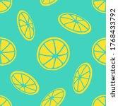lemon slices seamless pattern...   Shutterstock .eps vector #1768433792