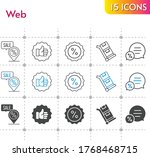 web icon set. included like ...
