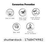 covid 19 prevention icon logo...   Shutterstock .eps vector #1768474982