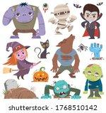 vector illustration of cartoon... | Shutterstock .eps vector #1768510142