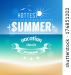 summer vacations poster design  ... | Shutterstock .eps vector #176851202