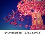 a fair ride shot with a long...   Shutterstock . vector #176852915