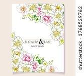 romantic wedding invitation... | Shutterstock .eps vector #1768529762