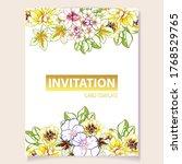 romantic wedding invitation... | Shutterstock .eps vector #1768529765
