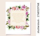 romantic wedding invitation... | Shutterstock .eps vector #1768529768