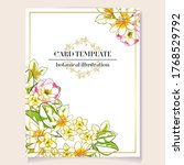 romantic wedding invitation... | Shutterstock .eps vector #1768529792