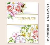 romantic wedding invitation... | Shutterstock .eps vector #1768529795