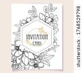 romantic wedding invitation... | Shutterstock .eps vector #1768529798