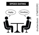 man and woman speed dating... | Shutterstock .eps vector #176853392