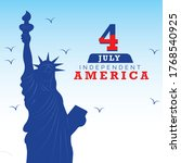 4 july independence day of usa. ... | Shutterstock .eps vector #1768540925