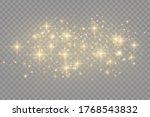 yellow dust. bokeh effect....   Shutterstock .eps vector #1768543832