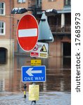 flooded traffic sign on bank of ... | Shutterstock . vector #17685973