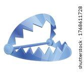 danger trap icon. cartoon of... | Shutterstock .eps vector #1768611728