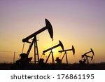crank balanced beam pumping... | Shutterstock . vector #176861195