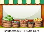 illustration of an empty... | Shutterstock .eps vector #176861876