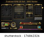 fantasy rpg ui set | Shutterstock .eps vector #176862326