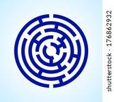 Illustration Of Round Blue ...