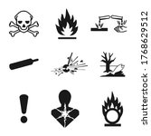 ghs pictogram hazard sign set.... | Shutterstock .eps vector #1768629512