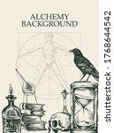 alchemy background. vintage...   Shutterstock .eps vector #1768644542