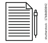 divorce petition icon. outline...   Shutterstock .eps vector #1768680842
