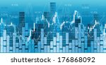 financial market charts  quotes ... | Shutterstock . vector #176868092