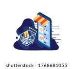 e commerce online shopping flat ...